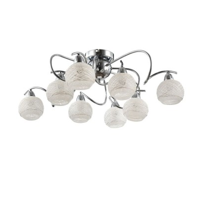 Люстра Freya FR5163-PL-08-CH Orinсовременные потолочные люстры модерн<br><br><br>Установка на натяжной потолок: Да<br>S освещ. до, м2: 16<br>Тип лампы: Накаливания / энергосбережения / светодиодная<br>Тип цоколя: E14<br>Цвет арматуры: серебристый хром<br>Количество ламп: 8<br>Диаметр, мм мм: 652<br>Высота, мм: 208<br>Оттенок (цвет): серебристый никель<br>MAX мощность ламп, Вт: 40
