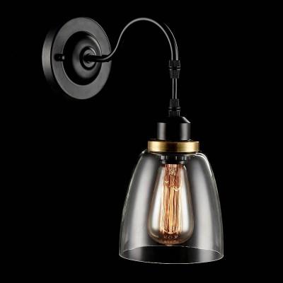 Светильник бра Freya FR167-01-R Louiseбра в стиле лофт<br><br><br>Тип цоколя: E27<br>Количество ламп: 1<br>Ширина, мм: 140<br>Глубина, мм: 245<br>Высота, мм: 320<br>Оттенок (цвет): Античный коричневый<br>MAX мощность ламп, Вт: 60