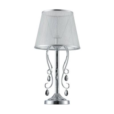 Настольная лампа FR2020-TL-01-CH Simone FreyaОжидается<br><br><br>Тип цоколя: E14<br>Количество ламп: 1<br>Диаметр, мм мм: 280<br>Высота, мм: 559<br>Оттенок (цвет): Хром<br>MAX мощность ламп, Вт: 40