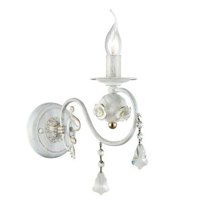 Светильник настенный бра Freya FR3218-WL-01-WG FabergeФлористика<br><br><br>Тип цоколя: E14<br>Цвет арматуры: Белый<br>Количество ламп: 1<br>Глубина, мм: 288<br>Высота, мм: 260<br>MAX мощность ламп, Вт: 60