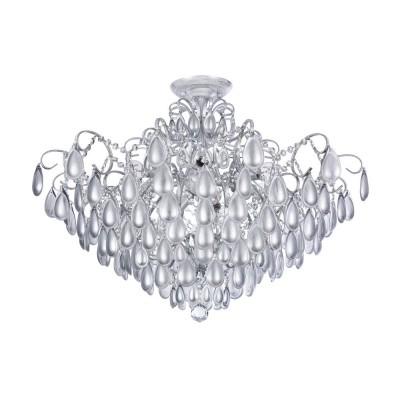 Люстра Freya FR2302CL-09S ChabrolОжидается<br><br><br>Тип лампы: накаливания / энергосбережения / LED-светодиодная<br>Тип цоколя: E14<br>Цвет арматуры: Белое серебро<br>Количество ламп: 9<br>Диаметр, мм мм: 755<br>Высота, мм: 519<br>MAX мощность ламп, Вт: 40