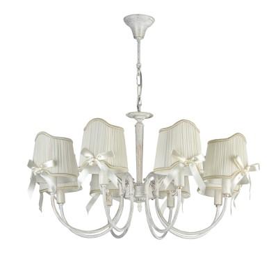 Люстра Freya FR2749-PL-08-WG KateПодвесные<br><br><br>Тип лампы: Накаливания / энергосбережения / светодиодная<br>Тип цоколя: E14<br>Цвет арматуры: белый золото<br>Количество ламп: 8<br>Диаметр, мм мм: 760<br>Высота, мм: 415<br>MAX мощность ламп, Вт: 40