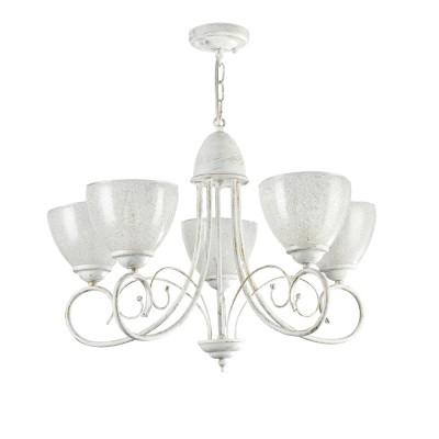 Люстра Freya FR2753-PL-05-WG Annetteсовременные подвесные люстры модерн<br><br><br>S освещ. до, м2: 15<br>Тип лампы: Накаливания / энергосбережения / LED - светодиодная<br>Тип цоколя: E14<br>Цвет арматуры: Белый и золотой<br>Количество ламп: 5<br>Диаметр, мм мм: 605<br>Высота полная, мм: 414<br>Длина цепи/провода, мм: 436<br>Высота, мм: 414<br>MAX мощность ламп, Вт: 60