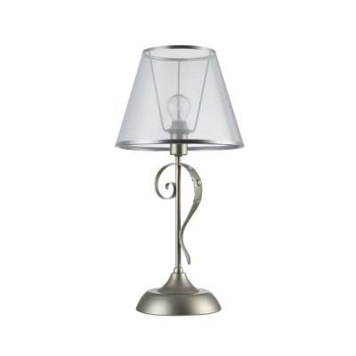 Настольная лампа Freya FR2755-TL-01-BR DarinaСовременные настольные лампы модерн<br><br><br>Тип лампы: Накаливания / энергосбережения / LED - светодиодная<br>Тип цоколя: E14<br>Цвет арматуры: Серебристый<br>Количество ламп: 1<br>Диаметр, мм мм: 230<br>Высота полная, мм: 460<br>Высота, мм: 460<br>Поверхность арматуры: матовая<br>Оттенок (цвет): серебристый<br>MAX мощность ламп, Вт: 40