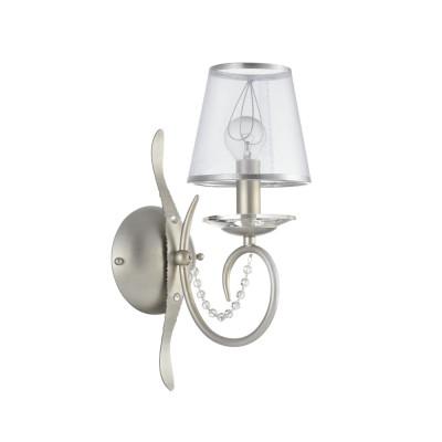 Бра Freya FR2755-WL-01-BR DarinaСовременные<br><br><br>Тип лампы: Накаливания / энергосбережения / светодиодная<br>Тип цоколя: E14<br>Цвет арматуры: Серебристо-коричневый<br>Количество ламп: 2<br>Ширина, мм: 130<br>Глубина, мм: 224<br>Высота, мм: 350<br>MAX мощность ламп, Вт: 40