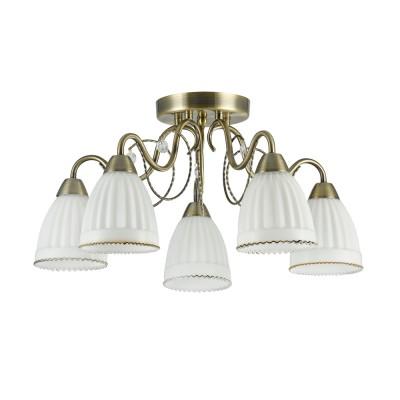 Люстра Freya FR2757-PL-05-BZ LetiziaПотолочные<br><br><br>Тип лампы: Накаливания / энергосбережения / светодиодная<br>Тип цоколя: E14<br>Цвет арматуры: бронзовый<br>Количество ламп: 5<br>Диаметр, мм мм: 555<br>Высота, мм: 260<br>MAX мощность ламп, Вт: 40