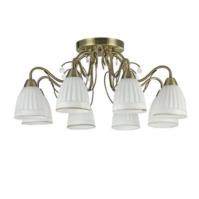 Люстра Freya FR2757-PL-08-BZ Letiziaсовременные потолочные люстры модерн<br><br><br>S освещ. до, м2: 16<br>Тип лампы: накаливания / энергосбережения / LED-светодиодная<br>Тип цоколя: E14<br>Цвет арматуры: бронзовый<br>Количество ламп: 8<br>Диаметр, мм мм: 675<br>Высота, мм: 280<br>MAX мощность ламп, Вт: 40