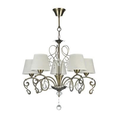 Люстра Freya FR2758-PL-05-BZ BitiПодвесные<br><br><br>Тип лампы: Накаливания / энергосбережения / светодиодная<br>Тип цоколя: E14<br>Цвет арматуры: бронзовый<br>Количество ламп: 5<br>Диаметр, мм мм: 640<br>Высота, мм: 570<br>MAX мощность ламп, Вт: 40