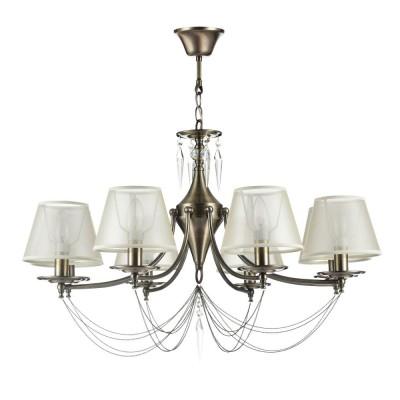 Люстра Freya FR2908-PL-08-BZ GarciaПодвесные<br><br><br>Крепление: Крюк<br>Тип лампы: Накаливания / энергосбережения / светодиодная<br>Тип цоколя: E14<br>Цвет арматуры: бронзовый<br>Количество ламп: 8<br>Диаметр, мм мм: 780<br>Глубина, мм: 780<br>Высота, мм: 520<br>Поверхность арматуры: матовая<br>Оттенок (цвет): бронза<br>MAX мощность ламп, Вт: 40