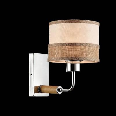 Freya Helen FR5329-WL-01-CH БраСовременные<br><br><br>Тип цоколя: E27<br>Количество ламп: 1<br>Ширина, мм: 155<br>Глубина, мм: 235<br>Высота, мм: 230<br>Оттенок (цвет): Никель + светло коричневый<br>MAX мощность ламп, Вт: 40