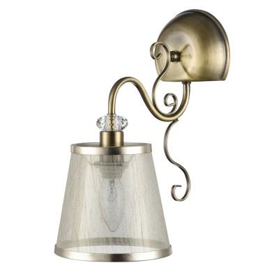 Светильник настенный бра Freya FR2405-WL-01-BZ DrianaСовременные<br><br><br>Цветовая t, К: 2500K<br>Тип цоколя: E14<br>Цвет арматуры: бронзовый античный<br>Количество ламп: 1<br>Глубина, мм: 150<br>Высота, мм: 318<br>MAX мощность ламп, Вт: 40