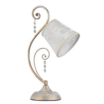 Настольная лампа Freya FR406-11-W LoretteСовременные<br>Настольная лампа – это не просто источник дополнительного освещения, но и оригинальный элемент декора. Его можно установить в спальне, гостиной, кабинете и других комнатах. Интернет-магазин «Светодом» предлагает настольные лампы разных стилей по доступным ценам. Благодаря большому ассортименту Вы обязательно найдете в нашем каталоге именно ту модель, которую искали.   Настольная лампа Freya FR406-11-W – прекрасный вариант для завершения интерьера. Ее можно включить одновременно с люстрой для более яркого освещения или без нее для создания уютной атмосферы, настраивающей на отдых.   Купить настольную лампу Freya FR406-11-W Вы можете с помощью виртуальной «Корзины» или по контактным номерам, указанным на сайте.<br><br>Цветовая t, К: 2500K<br>Тип цоколя: E14<br>Количество ламп: 1<br>MAX мощность ламп, Вт: 40<br>Глубина, мм: 150<br>Высота, мм: 454<br>Цвет арматуры: белый с золотистой патиной