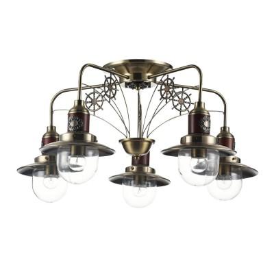 Люстра Freya FR4853-PL-05-BZ MarinoПотолочные<br><br><br>Крепление: Планка<br>Тип лампы: Накаливания / энергосбережения / светодиодная<br>Тип цоколя: E27<br>Цвет арматуры: бронзовый<br>Количество ламп: 5<br>Диаметр, мм мм: 730<br>Высота, мм: 360<br>Поверхность арматуры: матовая<br>Оттенок (цвет): бронза<br>MAX мощность ламп, Вт: 60