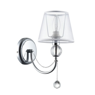 Бра Freya FR5661-WL-01-CH Beverlyсовременные бра модерн<br><br><br>Тип лампы: Накаливания / энергосбережения / светодиодная<br>Тип цоколя: E14<br>Цвет арматуры: серебристый хром<br>Количество ламп: 1<br>Ширина, мм: 150<br>Расстояние от стены, мм: 255<br>Высота, мм: 305<br>Поверхность арматуры: глянцевая<br>Оттенок (цвет): серебристый<br>MAX мощность ламп, Вт: 40
