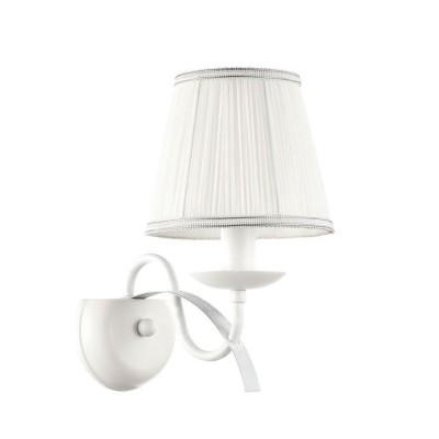 Светильник бра FR569-01-W FreyaКлассические<br><br><br>Тип лампы: Накаливания / энергосбережения / светодиодная<br>Тип цоколя: E14<br>Цвет арматуры: Белое серебро<br>Количество ламп: 1<br>Ширина, мм: 150<br>Глубина, мм: 210<br>Высота, мм: 248<br>MAX мощность ламп, Вт: 40