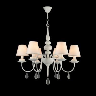 Люстра Freya FR5756-PL-06-W ElizaПодвесные<br><br><br>S освещ. до, м2: 12<br>Тип лампы: Накаливания / энергосбережения / светодиодная<br>Тип цоколя: E14<br>Цвет арматуры: Белый<br>Количество ламп: 6<br>Диаметр, мм мм: 752<br>Высота, мм: 625 - 1225<br>MAX мощность ламп, Вт: 40