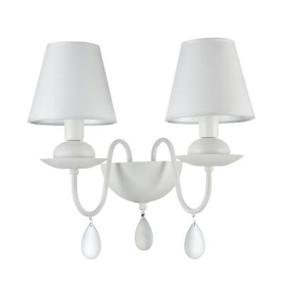 Бра Freya FR5756-WL-02-W ElizaСовременные<br><br><br>Тип лампы: Накаливания / энергосбережения / светодиодная<br>Тип цоколя: E14<br>Цвет арматуры: Белый<br>Количество ламп: 2<br>Ширина, мм: 400<br>Глубина, мм: 250<br>Высота, мм: 355<br>MAX мощность ламп, Вт: 40