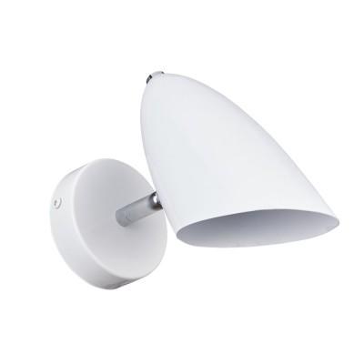 Светильник бра Freya FR5852-WL-01-W Aidaсовременные бра модерн<br><br><br>Тип лампы: Накаливания / энергосбережения / LED - светодиодная<br>Тип цоколя: E14<br>Цвет арматуры: Белый<br>Количество ламп: 1<br>Ширина, мм: 94<br>Высота полная, мм: 190<br>Глубина, мм: 189<br>Высота, мм: 190<br>Поверхность арматуры: матовая<br>Оттенок (цвет): Белый<br>MAX мощность ламп, Вт: 40
