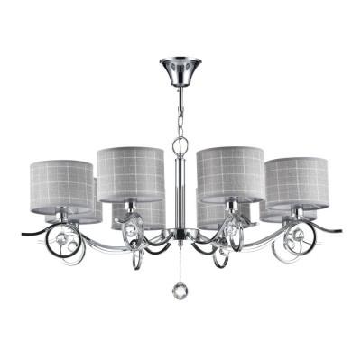 Люстра Freya FR5906-PL-08-CH Bertrandсовременные подвесные люстры модерн<br><br><br>Крепление: Крюк<br>Тип лампы: Накаливания / энергосбережения / светодиодная<br>Тип цоколя: E14<br>Цвет арматуры: серебристый хром<br>Количество ламп: 8<br>Диаметр, мм мм: 825<br>Длина цепи/провода, мм: 1000<br>Высота, мм: 350<br>Поверхность арматуры: глянцевая<br>Оттенок (цвет): серебристый<br>MAX мощность ламп, Вт: 40