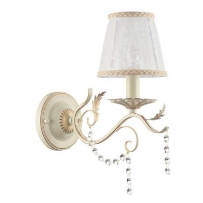 FR612-01-WG Freya БраКлассические<br><br><br>Тип лампы: Накаливания / энергосбережения / светодиодная<br>Тип цоколя: E14<br>Количество ламп: 1<br>Ширина, мм: 140<br>MAX мощность ламп, Вт: 40<br>Глубина, мм: 309<br>Высота, мм: 340<br>Цвет арматуры: Кремовое золото