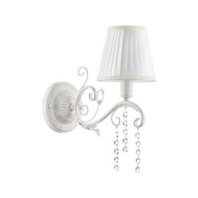 FR2613-WL-01-W Freya БраКлассические<br><br><br>Тип лампы: Накаливания / энергосбережения / светодиодная<br>Тип цоколя: E14<br>Цвет арматуры: Белый с серым патинированием<br>Количество ламп: 1<br>Ширина, мм: 140<br>Глубина, мм: 280<br>Высота, мм: 328<br>MAX мощность ламп, Вт: 40