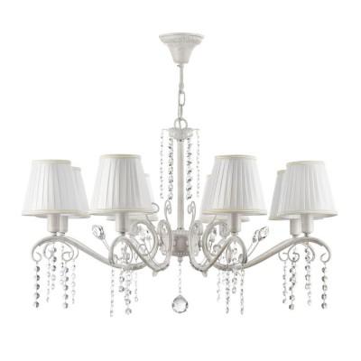 Люстра Freya FR2613-PL-08-Wлюстры подвесные классические<br><br><br>Установка на натяжной потолок: Да<br>S освещ. до, м2: 16<br>Тип лампы: Накаливания / энергосбережения / LED - светодиодная<br>Тип цоколя: E14<br>Цвет арматуры: Белый<br>Количество ламп: 8<br>Диаметр, мм мм: 782<br>Высота полная, мм: 440<br>Длина цепи/провода, мм: 700<br>Высота, мм: 440<br>MAX мощность ламп, Вт: 40