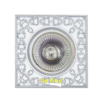 Светильник FT 1130 WHCH MR16 белый с серебромметаллические встраиваемые светильники<br>Светильник FT 1130 WHCH MR16 белый с серебром является тенденцией современного функционального врезного потолочного освещения для гостиной, зала, спальни или другого помещения. При выборе обратите внимание на цветовую гамму модели и подберите подходящие люстры, бра или торшеры из аналогичной коллекции, что сделает помещение по-дизайнерски профессиональным и законченным.