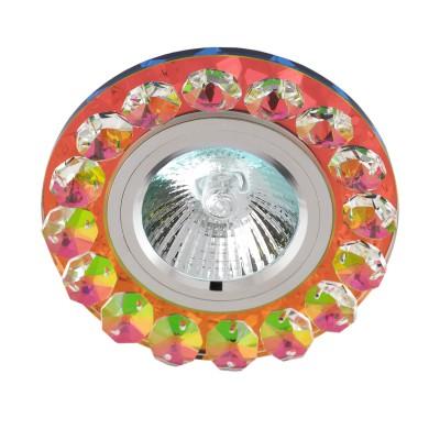 Светильник FT 850 MR16 хром зеркальный мультиколорвстраиваемые светильники стекло<br>Светильник FT 850 MR16 хром зеркальный мультиколор является тенденцией современного функционального врезного потолочного освещения для гостиной, зала, спальни или другого помещения. При выборе обратите внимание на цветовую гамму модели и подберите подходящие люстры, бра или торшеры из аналогичной коллекции, что сделает помещение по-дизайнерски профессиональным и законченным.