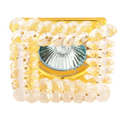 Светильник FT 861 MR16 золото+прозрачныйвстраиваемые светильники стекло<br>Светильник FT 861 MR16 золото+прозрачный является тенденцией современного функционального врезного потолочного освещения для гостиной, зала, спальни или другого помещения. При выборе обратите внимание на цветовую гамму модели и подберите подходящие люстры, бра или торшеры из аналогичной коллекции, что сделает помещение по-дизайнерски профессиональным и законченным.