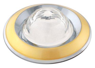 Светильник галогенный FT 103 WA PGCH Шар-Кристалл MR16 50w перл.золото+хром, белое стекло