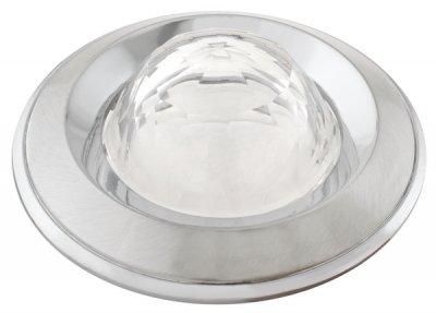 Светильник галогенный FT 103 WA SCHCH Шар-Кристалл MR16 50w сатин-хром+хром, белое стекло