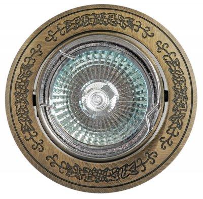 Светильник галогенный FT 181A GAB MR16 50w зел.античное золотоКруглые<br>Встраиваемые светильники – популярное осветительное оборудование, которое можно использовать в качестве основного источника или в дополнение к люстре. Они позволяют создать нужную атмосферу атмосферу и привнести в интерьер уют и комфорт.   Интернет-магазин «Светодом» предлагает стильный встраиваемый светильник Degran FT 181A GAB MR16 50w зел.античное золото. Данная модель достаточно универсальна, поэтому подойдет практически под любой интерьер. Перед покупкой не забудьте ознакомиться с техническими параметрами, чтобы узнать тип цоколя, площадь освещения и другие важные характеристики.   Приобрести встраиваемый светильник Degran FT 181A GAB MR16 50w зел.античное золото в нашем онлайн-магазине Вы можете либо с помощью «Корзины», либо по контактным номерам. Мы развозим заказы по Москве, Екатеринбургу и остальным российским городам.<br><br>S освещ. до, м2: 3<br>Тип лампы: галогенная<br>Тип цоколя: GU5.3 (MR16)<br>Количество ламп: 1<br>MAX мощность ламп, Вт: 50<br>Диаметр, мм мм: 91<br>Диаметр врезного отверстия, мм: 75<br>Цвет арматуры: Золотой