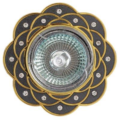 Светильник FT 193 GUG MR16 графит+золото со стразамиДекоративные<br>Встраиваемые светильники – популярное осветительное оборудование, которое можно использовать в качестве основного источника или в дополнение к люстре. Они позволяют создать нужную атмосферу атмосферу и привнести в интерьер уют и комфорт.   Интернет-магазин «Светодом» предлагает стильный встраиваемый светильник Degran FT 193 GUG MR16 графит+золото со стразами. Данная модель достаточно универсальна, поэтому подойдет практически под любой интерьер. Перед покупкой не забудьте ознакомиться с техническими параметрами, чтобы узнать тип цоколя, площадь освещения и другие важные характеристики.   Приобрести встраиваемый светильник Degran FT 193 GUG MR16 графит+золото со стразами в нашем онлайн-магазине Вы можете либо с помощью «Корзины», либо по контактным номерам. Мы развозим заказы по Москве, Екатеринбургу и остальным российским городам.<br><br>Тип лампы: галогенная<br>Тип цоколя: GU5.3 (MR16)<br>MAX мощность ламп, Вт: 50<br>Диаметр, мм мм: 94.5<br>Диаметр врезного отверстия, мм: 75