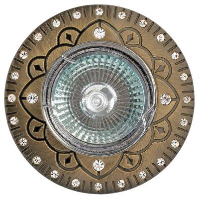 Светильник FT 194 GAB MR16 бронза со стразамиКруглые<br>Встраиваемые светильники – популярное осветительное оборудование, которое можно использовать в качестве основного источника или в дополнение к люстре. Они позволяют создать нужную атмосферу атмосферу и привнести в интерьер уют и комфорт.   Интернет-магазин «Светодом» предлагает стильный встраиваемый светильник Degran FT 194 GAB MR16 бронза со стразами. Данная модель достаточно универсальна, поэтому подойдет практически под любой интерьер. Перед покупкой не забудьте ознакомиться с техническими параметрами, чтобы узнать тип цоколя, площадь освещения и другие важные характеристики.   Приобрести встраиваемый светильник Degran FT 194 GAB MR16 бронза со стразами в нашем онлайн-магазине Вы можете либо с помощью «Корзины», либо по контактным номерам. Мы развозим заказы по Москве, Екатеринбургу и остальным российским городам.<br><br>Тип лампы: галогенная<br>Тип цоколя: GU5.3 (MR16)<br>MAX мощность ламп, Вт: 50<br>Диаметр, мм мм: 93<br>Диаметр врезного отверстия, мм: 60
