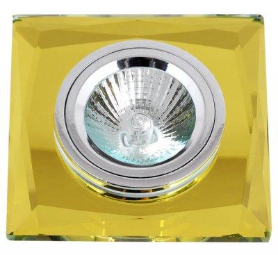 Светильник FT 848-2 MR16 желтое стеклоКвадратные<br>Встраиваемые светильники – популярное осветительное оборудование, которое можно использовать в качестве основного источника или в дополнение к люстре. Они позволяют создать нужную атмосферу атмосферу и привнести в интерьер уют и комфорт.   Интернет-магазин «Светодом» предлагает стильный встраиваемый светильник Degran FT 848-2 MR16 желтое стекло. Данная модель достаточно универсальна, поэтому подойдет практически под любой интерьер. Перед покупкой не забудьте ознакомиться с техническими параметрами, чтобы узнать тип цоколя, площадь освещения и другие важные характеристики.   Приобрести встраиваемый светильник Degran FT 848-2 MR16 желтое стекло в нашем онлайн-магазине Вы можете либо с помощью «Корзины», либо по контактным номерам. Мы развозим заказы по Москве, Екатеринбургу и остальным российским городам.<br><br>Тип лампы: галогенная<br>Тип цоколя: GU5.3 (MR16)<br>Ширина, мм: 90<br>MAX мощность ламп, Вт: 50<br>Диаметр врезного отверстия, мм: 60<br>Длина, мм: 90