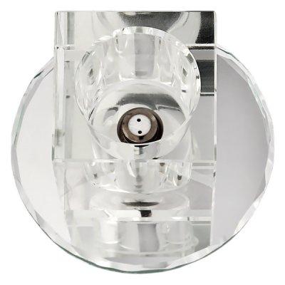 Светильник FT9259 G4 хром+прозрачное стеклоДекоративные<br>Встраиваемые светильники – популярное осветительное оборудование, которое можно использовать в качестве основного источника или в дополнение к люстре. Они позволяют создать нужную атмосферу атмосферу и привнести в интерьер уют и комфорт.   Интернет-магазин «Светодом» предлагает стильный встраиваемый светильник Degran FT9259 G4 хром+прозрачное стекло. Данная модель достаточно универсальна, поэтому подойдет практически под любой интерьер. Перед покупкой не забудьте ознакомиться с техническими параметрами, чтобы узнать тип цоколя, площадь освещения и другие важные характеристики.   Приобрести встраиваемый светильник Degran FT9259 G4 хром+прозрачное стекло в нашем онлайн-магазине Вы можете либо с помощью «Корзины», либо по контактным номерам. Мы развозим заказы по Москве, Екатеринбургу и остальным российским городам.<br><br>Тип лампы: галогенная<br>Тип цоколя: G4<br>MAX мощность ламп, Вт: 20<br>Диаметр, мм мм: 80<br>Диаметр врезного отверстия, мм: 46