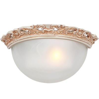Светильник Favourite 1444-1WКлассика<br>Светильник в виде половинки, который крепится на стену<br><br>Тип товара: Светильник настенный бра<br>Цветовая t, К: 2400-2800<br>Тип лампы: накаливания / энергосберегающая / светодиодная<br>Тип цоколя: E14<br>Количество ламп: 1<br>Ширина, мм: 300<br>MAX мощность ламп, Вт: 40<br>Расстояние от стены, мм: 100<br>Высота, мм: 160<br>Поверхность арматуры: матовый<br>Цвет арматуры: белый с золотистой патиной