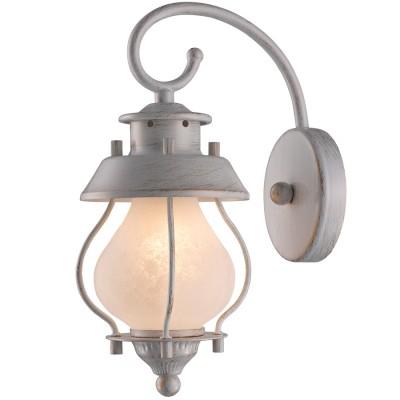 Светильник Favourite 1461-1Wбра в морском стиле<br><br><br>Цветовая t, К: 2400-2800<br>Тип лампы: накаливания / энергосберегающая / светодиодная<br>Тип цоколя: E14<br>Цвет арматуры: белый с золотистой патиной<br>Количество ламп: 1<br>Ширина, мм: 120<br>Размеры: W120*H290*E180<br>Длина, мм: 180<br>Высота, мм: 290<br>Поверхность арматуры: матовый<br>MAX мощность ламп, Вт: 40