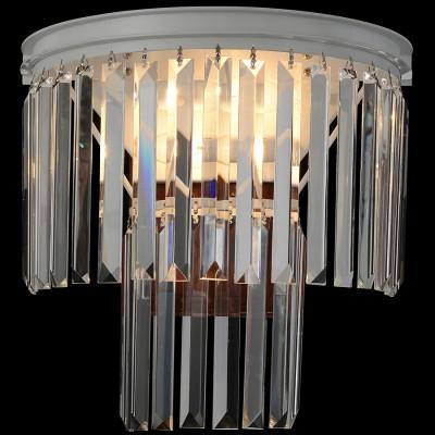 Светильник настенный Favourite 1490-2WХрустальные<br><br><br>Цветовая t, К: 2400-2800<br>Тип лампы: накаливания / энергосберегающая / светодиодная<br>Тип цоколя: E14<br>Количество ламп: 2<br>Ширина, мм: 300<br>Выступ, мм: 180<br>Размеры: D350*H400<br>Высота, мм: 350<br>Поверхность арматуры: матовый<br>MAX мощность ламп, Вт: 40<br>Общая мощность, Вт: 80