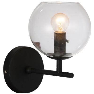 Светильник настенный Favourite 1491-1WРустика<br><br><br>Тип товара: Светильник настенный бра<br>Цветовая t, К: 3000<br>Тип лампы: накаливания / энергосберегающая / светодиодная<br>Тип цоколя: E14<br>Количество ламп: 1<br>Ширина, мм: 150<br>MAX мощность ламп, Вт: 40<br>Выступ, мм: 215<br>Размеры: W150*H220*D215<br>Длина, мм: 220<br>Поверхность арматуры: матовый<br>Цвет арматуры: черный