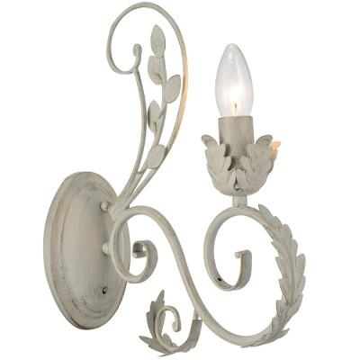 Светильник настенный Favourite 1492-1WФлористика<br><br><br>Цветовая t, К: 2400-2800<br>Тип лампы: накаливания / энергосберегающая / светодиодная<br>Тип цоколя: E14<br>Количество ламп: 1<br>Ширина, мм: 100<br>MAX мощность ламп, Вт: 40<br>Выступ, мм: 265<br>Размеры: W265*H100*D320<br>Высота, мм: 320<br>Поверхность арматуры: матовый<br>Цвет арматуры: белый