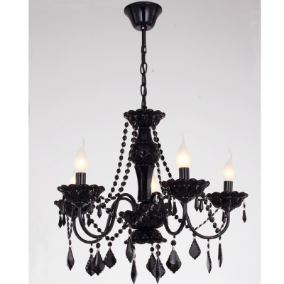 Люстра черная Favourite 1571-5PПодвесные<br><br><br>Установка на натяжной потолок: Да<br>S освещ. до, м2: 10<br>Рекомендуемые колбы ламп: свеча на ветру<br>Крепление: Крюк<br>Тип товара: Люстра<br>Тип лампы: накаливания / энергосберегающая / светодиодная<br>Тип цоколя: E14<br>Количество ламп: 5<br>MAX мощность ламп, Вт: 40<br>Диаметр, мм мм: 550<br>Размеры: D550*H450/1450<br>Высота, мм: 1500<br>Поверхность арматуры: глянцевый<br>Цвет арматуры: черный<br>Общая мощность, Вт: 200