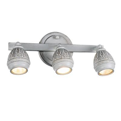 Настенный светильник Favourite 1585-3W Sorentoтройные споты<br><br><br>Тип лампы: Накаливания / энергосбережения / светодиодная<br>Тип цоколя: GU10<br>Цвет арматуры: золото<br>Количество ламп: 3<br>Ширина, мм: 350<br>Диаметр, мм мм: 105<br>Размеры: D105*W350*H160<br>Высота, мм: 160<br>Поверхность арматуры: матовая<br>Оттенок (цвет): белый<br>MAX мощность ламп, Вт: 5