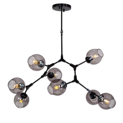 Люстра Favourite 1742-8P BolosПодвесные<br>Выбирая модель светильника Favourite 1742-8P, обратите внимание, что черный цвета каркаса, прозрачные стеклянные плафоны серого оттенка. Дополнительная информация в характеристиках или по телефону.<br><br>Крепление: Планка<br>Тип цоколя: E27<br>Количество ламп: 8<br>Диаметр, мм мм: 1200<br>Размеры: D1200*H1050<br>Высота, мм: 1050<br>Общая мощность, Вт: 40W