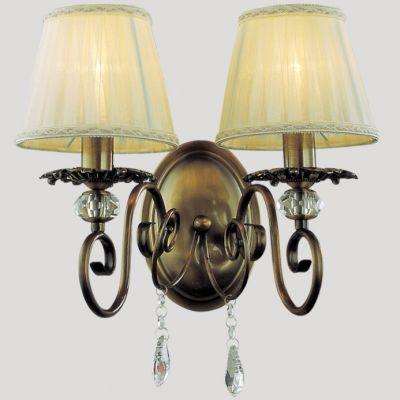 Светильник бра Favourite 1091-2wАрхив<br><br><br>S освещ. до, м2: 6<br>Тип лампы: накаливания / энергосбережения / LED-светодиодная<br>Тип цоколя: E14<br>Цвет арматуры: бронзовый<br>Количество ламп: 2<br>Ширина, мм: 360<br>Диаметр, мм мм: 225<br>Размеры: W360*D225*H355<br>Расстояние от стены, мм: 225<br>Высота, мм: 355<br>Оттенок (цвет): бежевый<br>MAX мощность ламп, Вт: 60