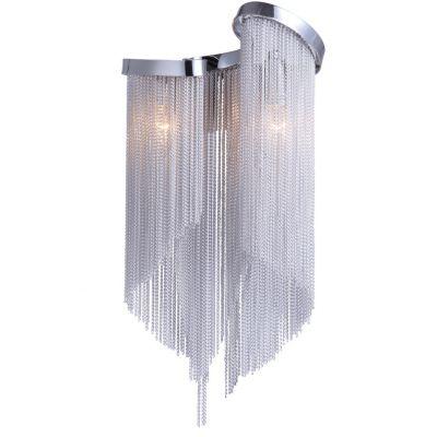 Светильник бра Favourite 1156-2wХрустальные<br><br><br>S освещ. до, м2: 3<br>Тип лампы: накаливания / энергосбережения / LED-светодиодная<br>Тип цоколя: E14<br>Количество ламп: 2<br>Ширина, мм: 220<br>MAX мощность ламп, Вт: 25<br>Диаметр, мм мм: 150<br>Размеры: W220*H440*D150<br>Высота, мм: 440<br>Цвет арматуры: серебристый