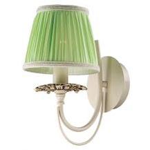 Светильник бра зеленый Favourite 1196-1wРустика<br><br><br>S освещ. до, м2: 4<br>Тип лампы: накаливания / энергосбережения / LED-светодиодная<br>Тип цоколя: E14<br>Количество ламп: 1<br>Ширина, мм: 150<br>MAX мощность ламп, Вт: 40<br>Диаметр, мм мм: 220<br>Расстояние от стены, мм: 220<br>Высота, мм: 160<br>Цвет арматуры: бежевый