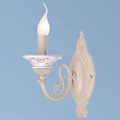 Светильник бра Favourite 1202-1wРустика<br><br><br>S освещ. до, м2: 4<br>Тип лампы: накаливания / энергосбережения / LED-светодиодная<br>Тип цоколя: E14<br>Цвет арматуры: белый<br>Количество ламп: 1<br>Ширина, мм: 120<br>Диаметр, мм мм: 220<br>Размеры: W120*H268*D220<br>Расстояние от стены, мм: 220<br>Высота, мм: 268<br>MAX мощность ламп, Вт: 60