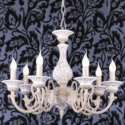 Люстра подвесная Favourite 1202-7pПодвесные<br><br><br>Установка на натяжной потолок: Да<br>S освещ. до, м2: 28<br>Крепление: Крюк<br>Тип товара: Люстра подвесная<br>Скидка, %: 52<br>Тип лампы: накаливания / энергосбережения / LED-светодиодная<br>Тип цоколя: E14<br>Количество ламп: 7<br>MAX мощность ламп, Вт: 60<br>Диаметр, мм мм: 625<br>Размеры: D625*H480/1000<br>Высота, мм: 480 - 1000<br>Цвет арматуры: белый