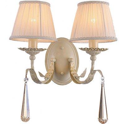 Светильник Favourite 1409-2wСовременные<br><br><br>S освещ. до, м2: 5<br>Тип лампы: накаливания / энергосбережения / LED-светодиодная<br>Тип цоколя: E14<br>Количество ламп: 2<br>Ширина, мм: 430<br>MAX мощность ламп, Вт: 40<br>Диаметр, мм мм: 200<br>Размеры: W430*D200*H230<br>Высота, мм: 230<br>Цвет арматуры: бежевый с золотистой патиной